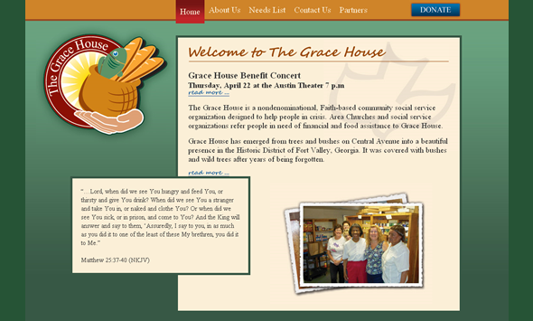 the grace house website